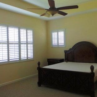 Minimalist bedroom photo in Miami