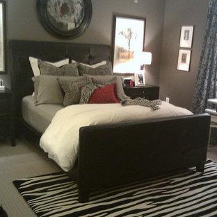 Trendy bedroom photo in Miami