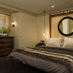 traditional bedroom by huntley & co