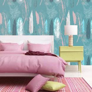 サンシャインコーストのコンテンポラリースタイルのおしゃれな寝室のインテリア