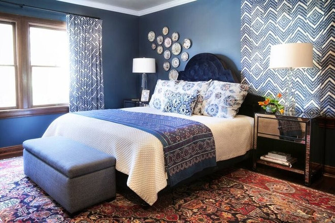 Transitional Bedroom by Lindsay Pennington Inc.