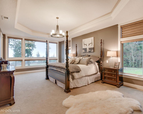 arts and crafts bedroom design ideas renovations photos with brown