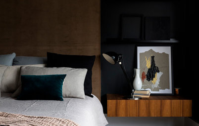 22 Moody and Modern Bedrooms With Dark Walls