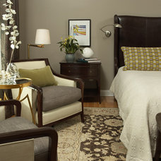 transitional bedroom by Martha O'Hara Interiors