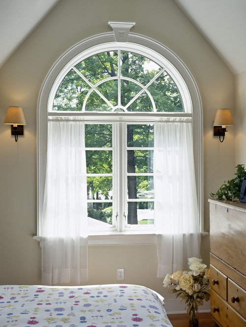 Arched windows curtains houzz for Arched kitchen window treatment ideas