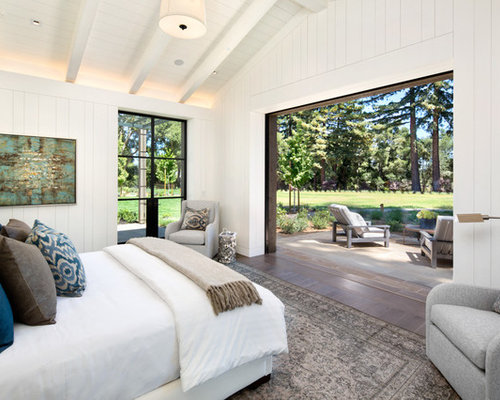 Farmhouse bedroom design ideas remodels photos houzz Houzz master bedroom photos