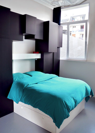 10 bonnes raisons de faire fusionner dressing et t te de lit. Black Bedroom Furniture Sets. Home Design Ideas