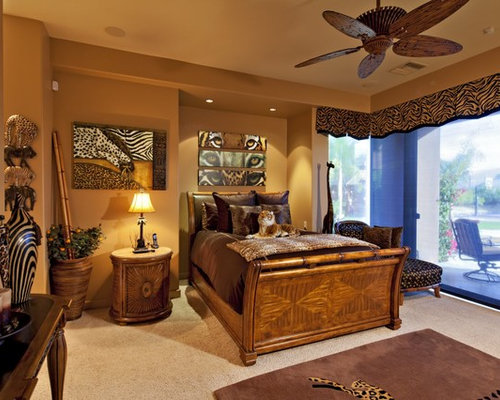 example of an island style bedroom design in other - African Bedroom Decorating Ideas