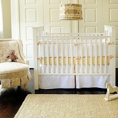 traditional bedroom Yellow Nursery