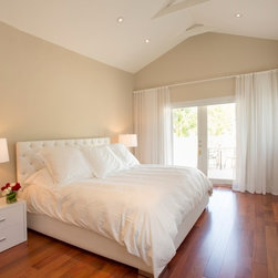 Yiliam | Miami Beach Villa | Grommet - Sheer - Ripple Fold - Black Velvet - Master Bedroom: