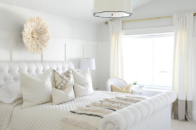 Transitional Bedroom by Monika Hibbs