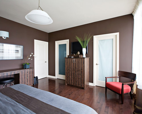 Dark brown walls houzz Dark brown walls bedroom
