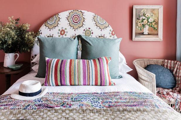 Eclectic Bedroom by Lisa Burdus Interior Design