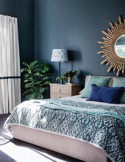 Eclectic Bedroom by Lisa Burdus Interior Design