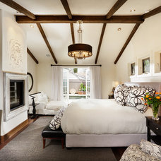 Mediterranean Bedroom by Joyce Hoshall Interiors