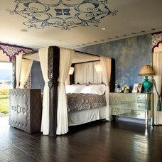 Mediterranean Bedroom by Tara Design