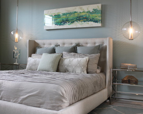 blue and gray bedroom design ideas remodel pictures houzz
