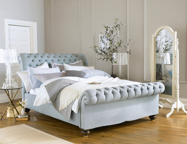 Simple Contemporary Bedroom by Royal Bohemia
