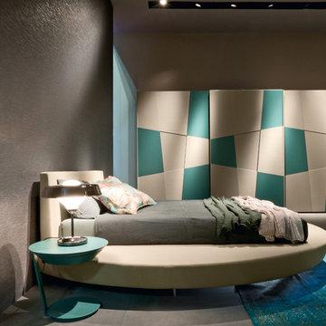 Zero round bed by Presotto