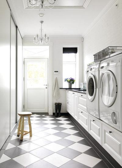 Farmhouse Laundry Room by JKE Design