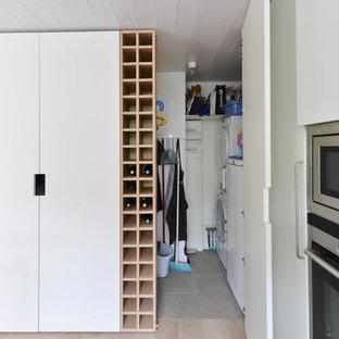Cette image montre une buanderie minimaliste.