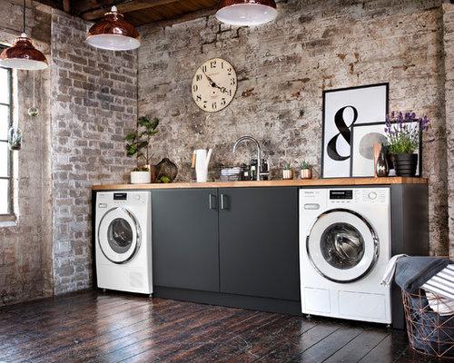industrial laundry room design ideas remodels photos. Black Bedroom Furniture Sets. Home Design Ideas