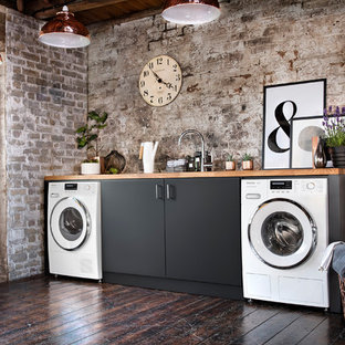 Inspiration for an industrial laundry room in Oxfordshire.