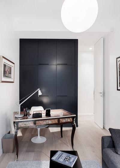 トランジショナル ホームオフィス・書斎 Appartement_ Paris 16