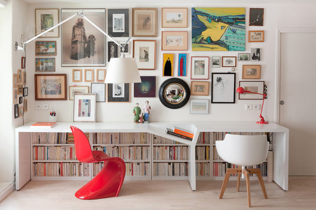 Contemporary Home Office by Christophe Vendel