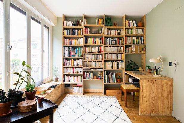 Contemporain Bureau à domicile by Atelier Olivier Bourdon
