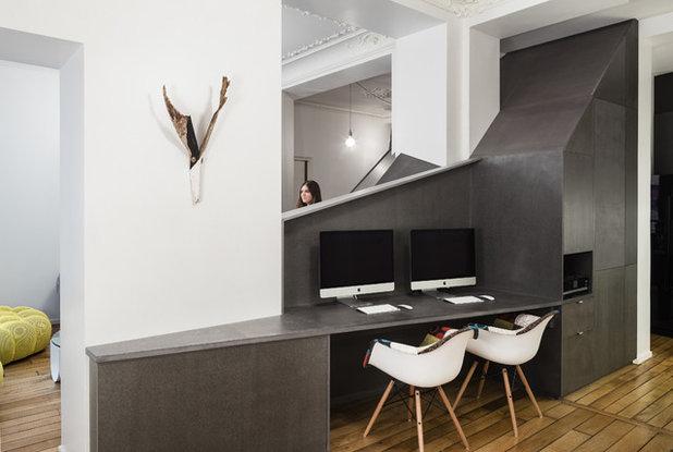 Contemporain Bureau à domicile by Studio Razavi