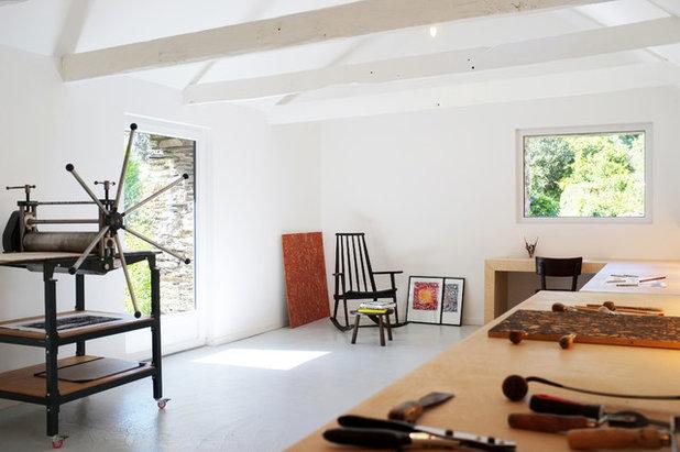 au en rustikal innen modern ein k nstleratelier in der bretagne. Black Bedroom Furniture Sets. Home Design Ideas