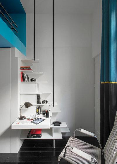 visite priv e une chambre d 39 tudiant g om trie variable. Black Bedroom Furniture Sets. Home Design Ideas