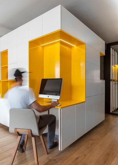 Contemporain Bureau à domicile by Agence Glenn Medioni