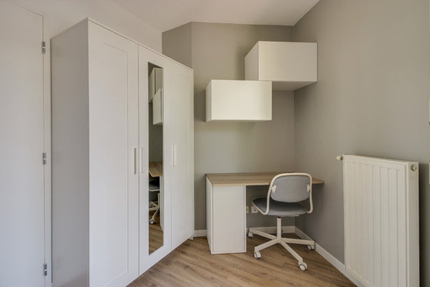 Scandinavian Home Office & Library by Less is More
