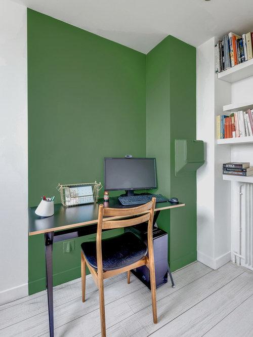 bureau scandinave vert photos et id es d co de bureaux. Black Bedroom Furniture Sets. Home Design Ideas
