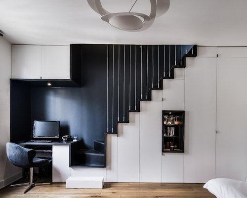 Bureau rangement sous escalier photos et id es d co de - Escalier rangement integre ...