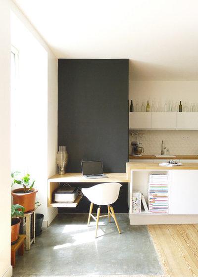 Contemporain Bureau à domicile by MAYA Architecture & Design