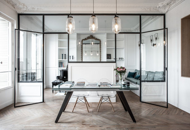 Contemporary Home Office & Library by Miriam Gassmann