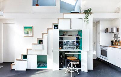 Aménagez un espace de travail sous votre escalier