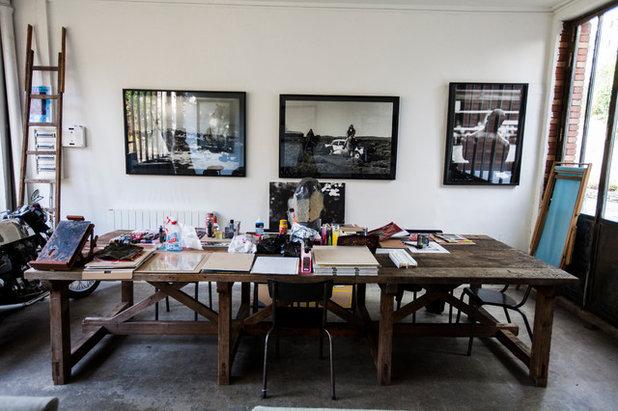 Contemporain Bureau à domicile by 2design architecture