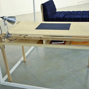 Свежая идея для дизайна: кабинет в скандинавском стиле - отличное фото интерьера