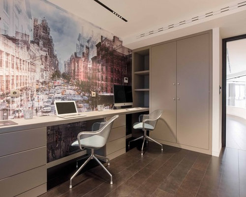 Home Office Design Ideas Remodels Photos With Beige Walls
