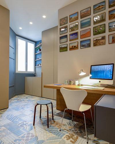 Contemporain Bureau à domicile by Roberta Becherucci - Cuisines et Décoration