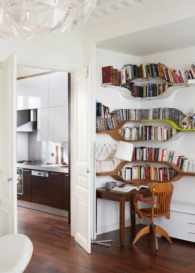 Contemporary Home Office & Library by Studio Jean-Marc GADY