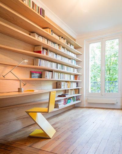 Contemporary Home Office & Library by Créateurs d'Intérieur