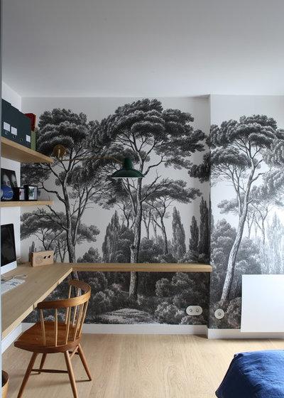 Contemporain Bureau à domicile by Architecte d'intérieur - Marion Dériot