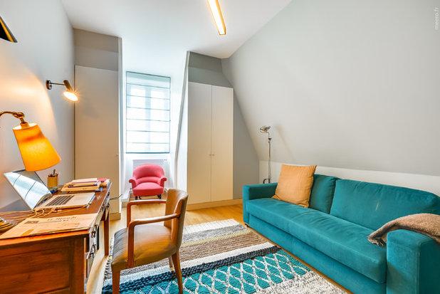 Contemporain Bureau à domicile by Gommez-Vaëz Architecte
