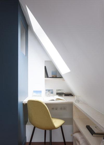 Contemporain Bureau à domicile by OUI Architecture