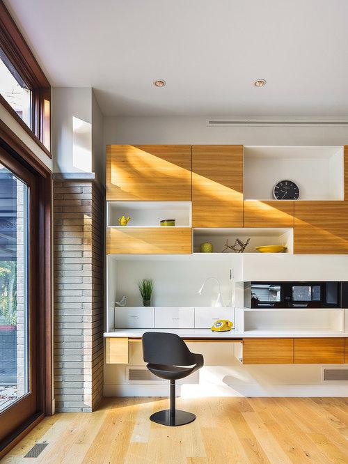 Kleines arbeitszimmer mit kaminsims aus holz ideen f r - Kleines arbeitszimmer ...